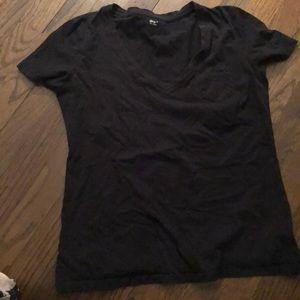 Black V-Neck T-Shirt with pocket